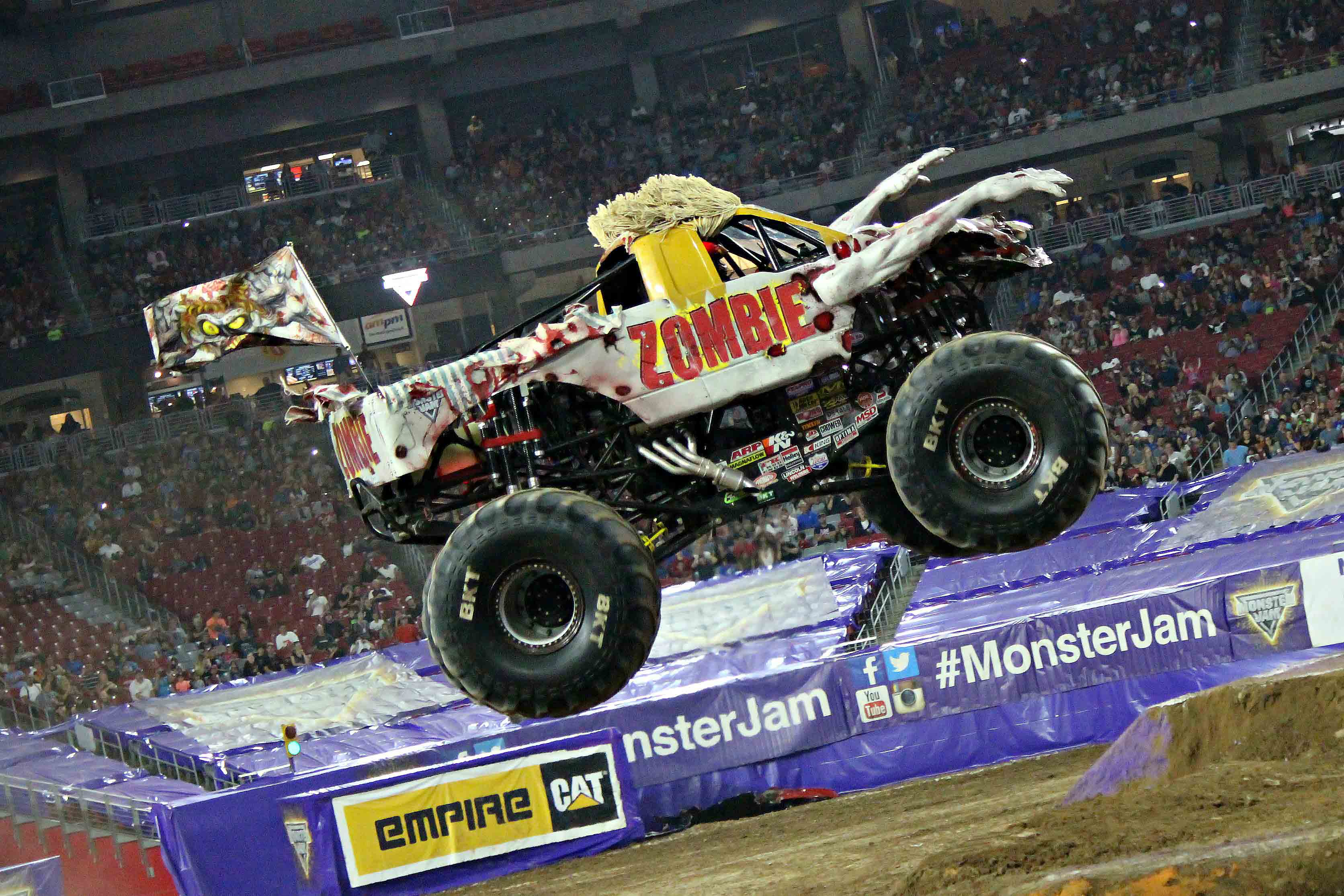 Dustin Brown drove Zombie™ at Monster Jam Glendale. Photo by Evan Posocco.