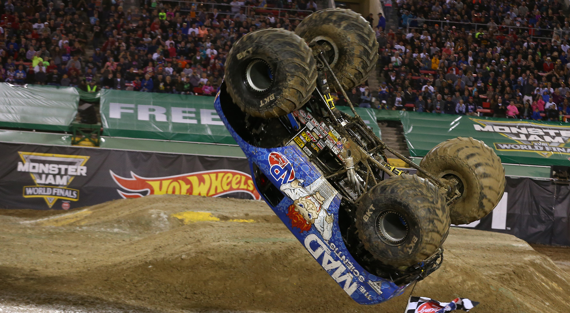 25 years of monster jam lee o donnell claims mjwf xviii freestyle title