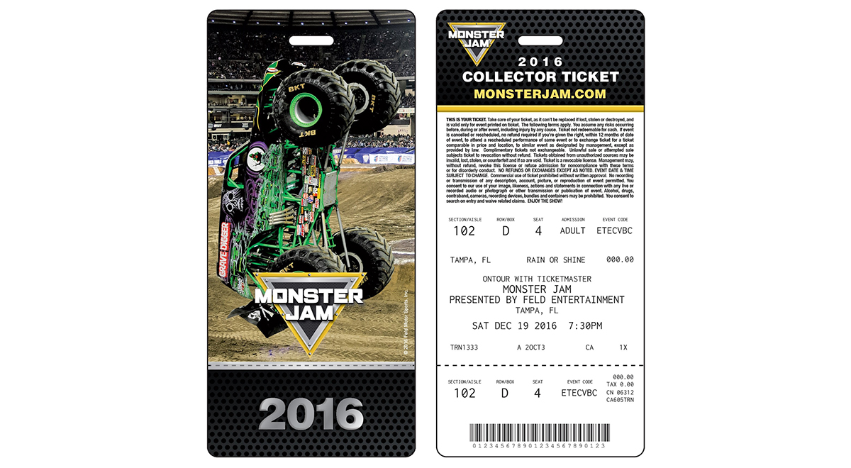 Monster Jam Collector's Ticket