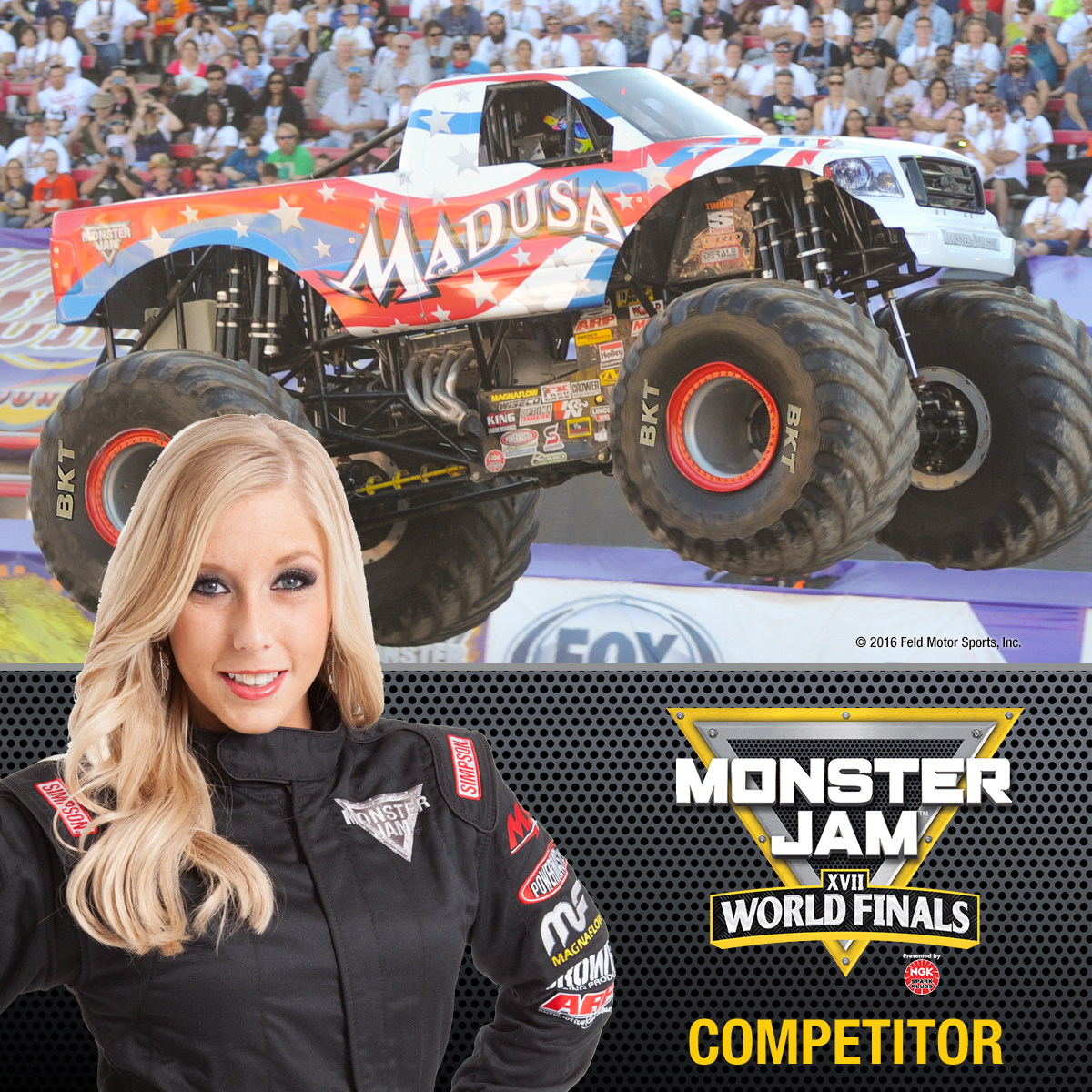 Ausmalbild Madusa Monster Truck: Monster Jam World Finals® XVII Competitors Announced