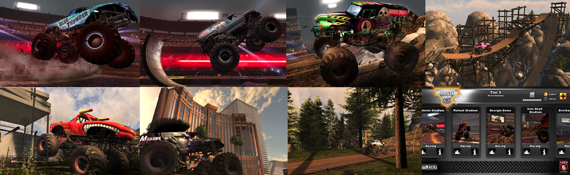 Monster Jam Mobile Game App Screenshots